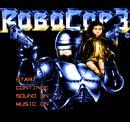 Robocop 3 Title Screen